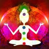 De lotusbloem van de yoga stelt Royalty-vrije Stock Foto's