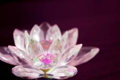 De lotusbloem van het kleurenkristal royalty-vrije stock afbeeldingen