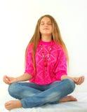 De lotusbloempositie van de yoga royalty-vrije stock foto's