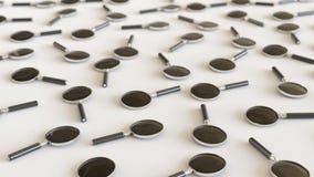 ` De loupe dans même une grille sur une surface en béton simple Image stock
