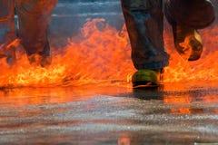 De lucha contra el fuego Imagenes de archivo