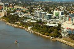 De lucht Bank Parkland, Brisbane van het Zuiden van de mening Royalty-vrije Stock Foto