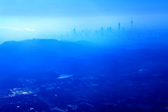 De lucht bekijkt guangzhou Stock Afbeeldingen