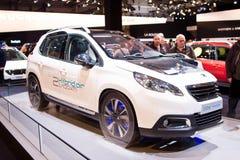 De lucht hybride auto van Peugeot 2008 Stock Afbeelding