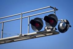 De lucht Kruising van de Spoorweg Royalty-vrije Stock Afbeeldingen