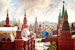 De lucht mening van het Kremlin Royalty-vrije Stock Afbeelding