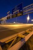 De lucht Tekens van de Informatie van de Autosnelweg Stock Afbeelding