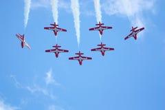 De lucht toont â Snowbirds stock afbeeldingen