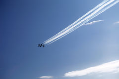 De lucht toont Stock Afbeelding