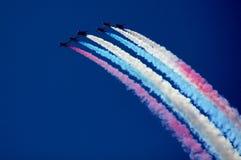 De lucht toont Stock Foto's