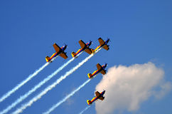 De lucht toont 4 Royalty-vrije Stock Afbeeldingen