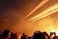 De lucht toont stock fotografie
