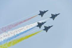 De lucht toont Acrobatiekvertoning Stock Foto's
