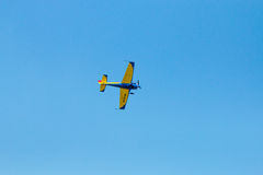 De lucht toont geïsoleerde plannen Stock Fotografie