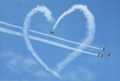 De lucht toont hartlijn Stock Afbeeldingen