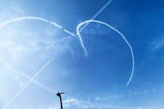 De lucht toont met Liefde Royalty-vrije Stock Afbeeldingen