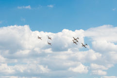 De lucht toont 2013, Radom 30 Augustus 2013 Stock Afbeeldingen