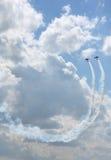 De lucht toont stunt. Royalty-vrije Stock Foto's