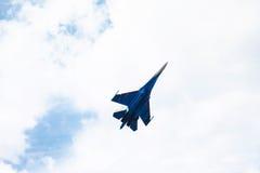 De lucht toont su-34 Royalty-vrije Stock Afbeeldingen