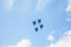 De lucht toont su-34 Stock Foto's