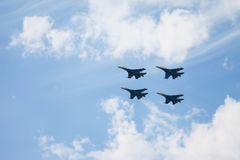 De lucht toont su-34 Stock Foto