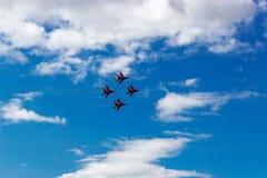 De lucht toont swifts Royalty-vrije Stock Fotografie