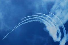 De lucht toont team Stock Afbeelding