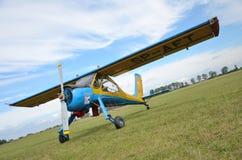 De lucht toont - vliegtuig Wilga Stock Fotografie