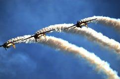 De lucht toont - vliegtuigen Stock Foto's