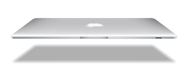 De lucht van de appel macbook Stock Afbeeldingen