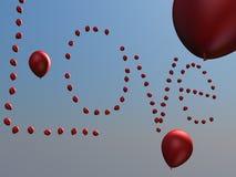 De lucht van de ballonsliefde Stock Foto