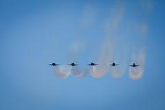 De Lucht van de Week van de Vloot van de Slepen van de Damp van het Verlof van stralen toont stock fotografie