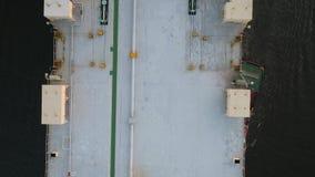 De lucht van de het Voertuigdrager van de Meningsauto van het Schipdelaware Rivier Philadelphia stock videobeelden