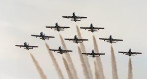 De Lucht van Rome toont 2014 Stock Foto's