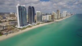De lucht videolengte van Sunny Isles Beach stock footage