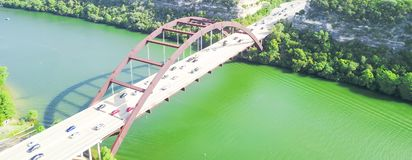 De luchtbrug van meningspennybacker of 360 Brug in Austin, Texas, U Royalty-vrije Stock Afbeeldingen