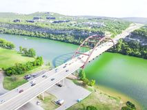 De luchtbrug van meningspennybacker of 360 Brug in Austin, Texas, U Stock Foto's