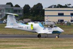 De Luchtbus e-Ventilator is een prototype elektrisch vliegtuig die door Luchtbusgroep worden ontwikkeld stock afbeeldingen
