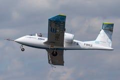 De Luchtbus e-Ventilator is een prototype elektrisch vliegtuig die door Luchtbusgroep worden ontwikkeld royalty-vrije stock foto's