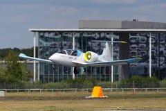 De Luchtbus e-Ventilator is een prototype elektrisch vliegtuig die door Luchtbusgroep worden ontwikkeld stock foto
