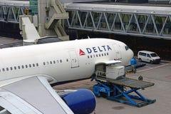 De luchtbus A330 N854NW van Delta Airlines stock afbeelding