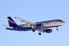 De Luchtbus van Aeroflot A320 Stock Afbeelding