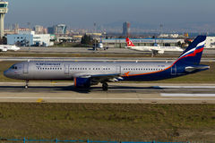 De Luchtbus van Aeroflot A321 stock foto's