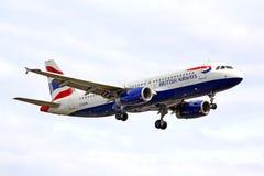 De luchtbus van British Airways A320 Royalty-vrije Stock Foto's