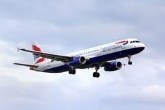 De Luchtbus van British Airways A321 Royalty-vrije Stock Foto