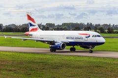 De Luchtbus van British Airways A319 Stock Afbeelding