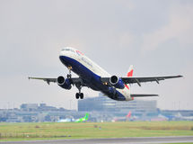 De Luchtbus van British Airways A321 Stock Afbeeldingen