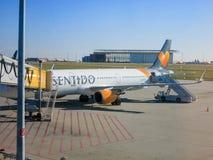 De Luchtbus A321 van condorsentido stock fotografie