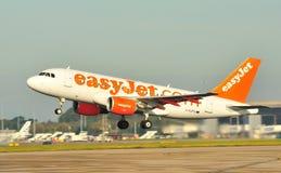 De Luchtbus van Easyjet A319 Stock Afbeeldingen