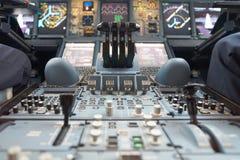 De Luchtbus van emiraten A380 stock afbeeldingen
